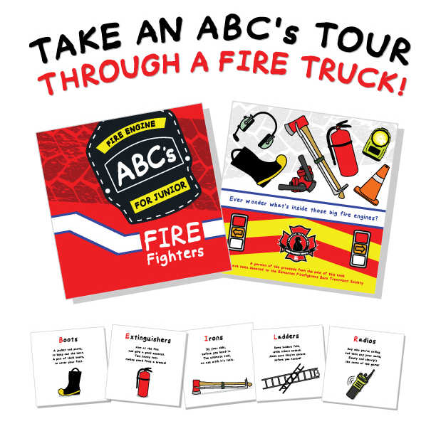 Fire Engine ABC's for Junior Fire Fighters Children's Book